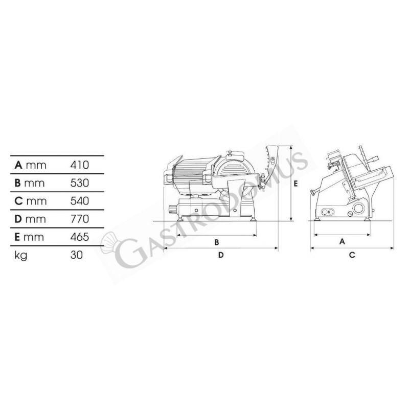 Spiralteigknetmaschine – fester Kessel – 16 L – dreiphasig 400 V – 1 Geschwindigkeit