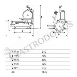 Spiralteigknetmaschine – fester Kessel – 10 L – einphasig – 1 Geschwindigkeit