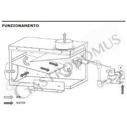 Hochgeschwindigkeits-Spiralteigknetmaschine – abnehmbarer Kessel – 41 l – dreiphasig – 2 Geschwindigkeiten