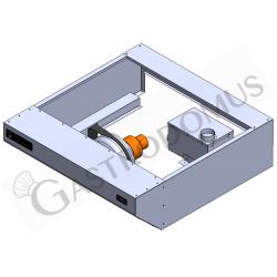 Hochgeschwindigkeits-Spiralteigknetmaschine – abnehmbarer Kessel – 48 L – dreiphasig – 2 Geschwindigkeiten