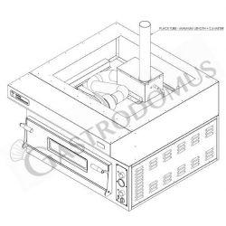 Hochgeschwindigkeits-Spiralteigknetmaschine – fester Kessel – 48 l – einphasig – 1 Geschwindigkeit