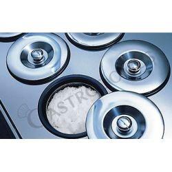 Eisvitrine – Runde Behälter – 4 + 4 Löcher – einphasig – Kondensatoreinheit – B 1000 mm