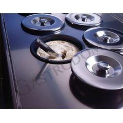 Eisvitrine – Runde Behälter – 10 + 10 Löcher – einphasig – Kondensatoreinheit – B 2000 mm