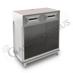 Speiseeistheke – Pozzetti Technik – 8 Behälter – Kapazität 345 L – Temperatur -20°C/-5°C
