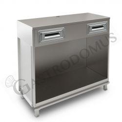 Ventilierte Vitrine Gmax für Konditorei 3 Regale, Temperatur  +8°/+15°C, B 1400 mm