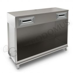 Ventilierte Vitrine Gmax für Konditorei 3 Regale, Temperatur  +8°/+15°C, B 1000 mm