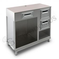 Kühltisch –  3 Türen – Tiefe 700 – Aufkantung - Temperatur 0°C/+10°C - Fernmotor