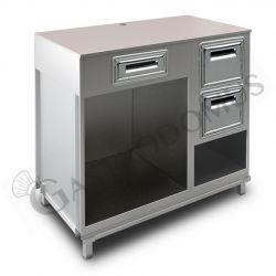 Kühltisch - 2 Türen - Aufkantung - Tiefe 700 mm - Temperatur -18°C/-22°C - Fernmotor