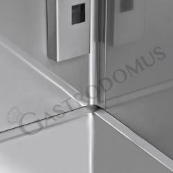 Tischkühlvitrine mit Umluftkühlung – Fassungsvermögen 120 L – LED-Innenbeleuchtung