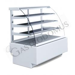 Edelstahl – Aufsatzbord – 2 Etagen – B 2000 mm x T 350 mm x H 700 mm