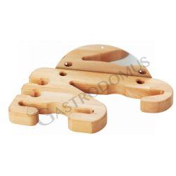 Universale Wandhalterung – Holz – 4 Plätze