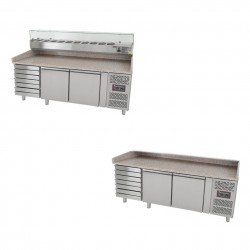Pizzakühltische mit oder ohne Kühlaufsatz oder Schubladen