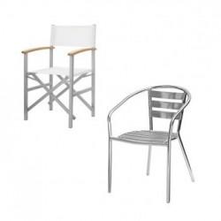 Kunststoff- und Rattan Outdoor-Stühle