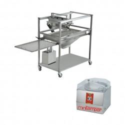 Temperiermaschinen und Glasiermaschinen für Schokolade