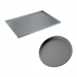 Pizzableche - Aluminium, Stahl, rund oder rechteckig