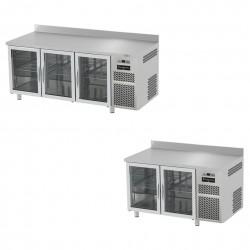 Kühltische mit Glastüren für die Gastronomie